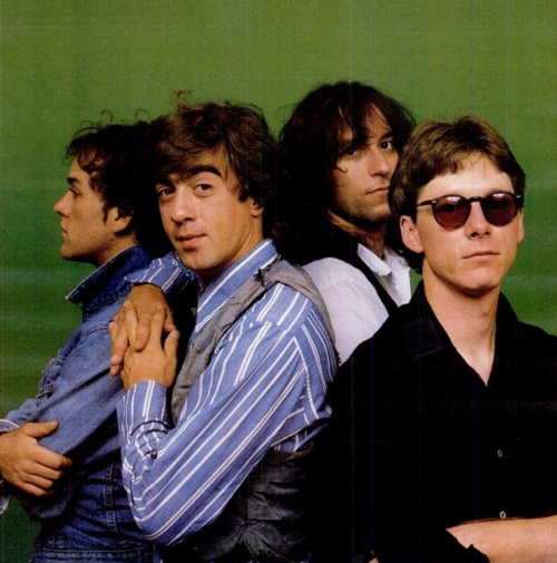 R.E.M. - Michael Stipe, Bill Berry, Peter Buck & Mike Mills.  Arguably, the Greatest American Rock Band... evah.