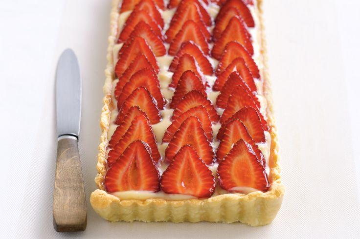Strawberry Custard Tart Recipe - Taste.com.au