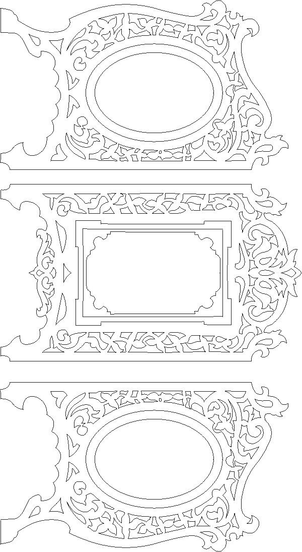 Picture Frame Scroll Saw Pattern