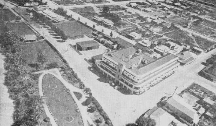 Aerial view, Renmark Hotel, South Australia, 1947.
