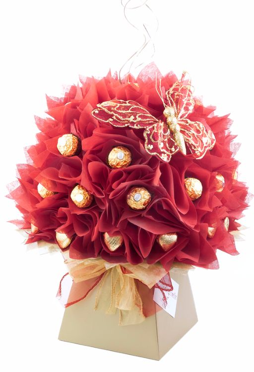 red camellia chocolate bouquet I www.thechocolateflorist.co.uk
