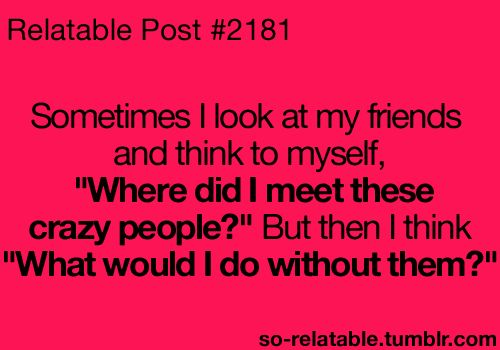Pinterest Funny Crazy Quotes: 17 Best Crazy Friend Quotes On Pinterest