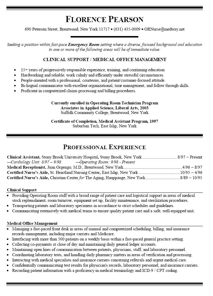 Πάνω από 25 κορυφαίες ιδέες για Registered nurse resume στο - clinical medical assistant sample resume