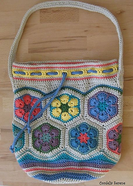 Crochet African Flower Bag Pattern Traitoro For