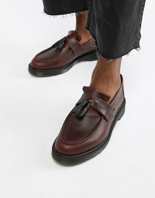 a9ce706f9c7 Dr Martens Adrian tassel loafers in deep red in 2019