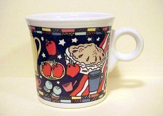 "Homer Laughlin China/Fiesta® Mug ""As American As Apple Pie""  AMERICAN PIE SERIES | eBay"