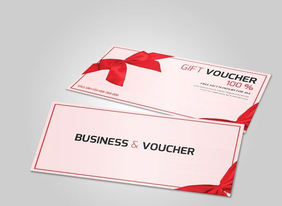 Fancy Pink Gift Voucher Template - Cards