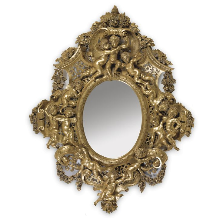 A very large palatial size carved giltwood mirror in the manner of Valentino Besarel<br><P>Italian, second half 19th century</P> | lot | Sotheby's