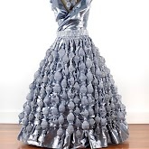 Knitted Ball Gown by Teresa Dair from dairing yarns.