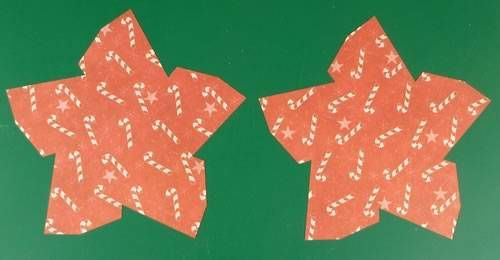 making double sided 3d star christmas decorations - cut out star shapes