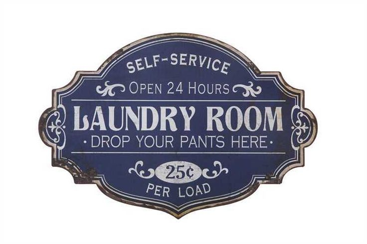 Self Service Laundry Room Drop Your Pants Here Sign - Marmalade Mercantile