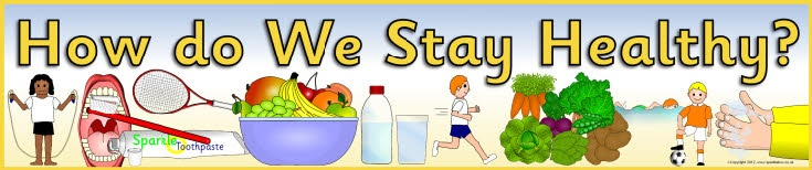 How do We Stay Healthy? display banner (SB58) - SparkleBox