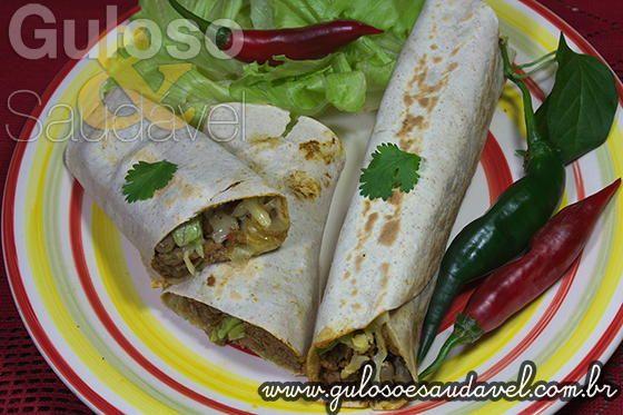 Burritos Mexicanos com Chilli » Carnes, Receitas Saudáveis, Sanduíches » Guloso e Saudável
