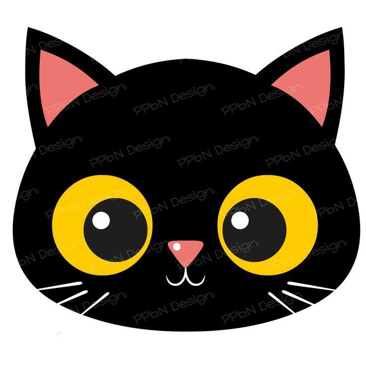 Black Cat Clipart Cat Face Halloween Quilt Patterns Cat Face Cat Party