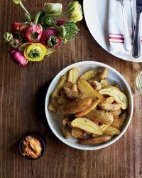 Fingerling Papas Bravas with Smoky Aioli Recipe on Food & Wine