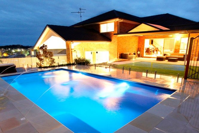 Simple Pool For Your Home Savillefurniture In 2021 Simple Pool Swimming Pool Designs Glass Pool Fencing
