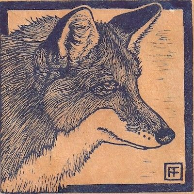 Red Fox Linocut by anniefitt on Etsy, $28.00