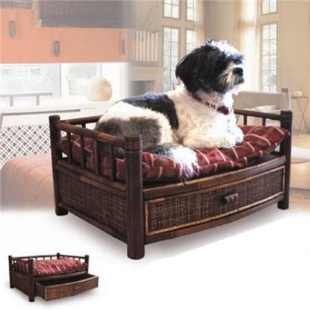 Tropical Island – Bamboo Pet Bed with Cushion