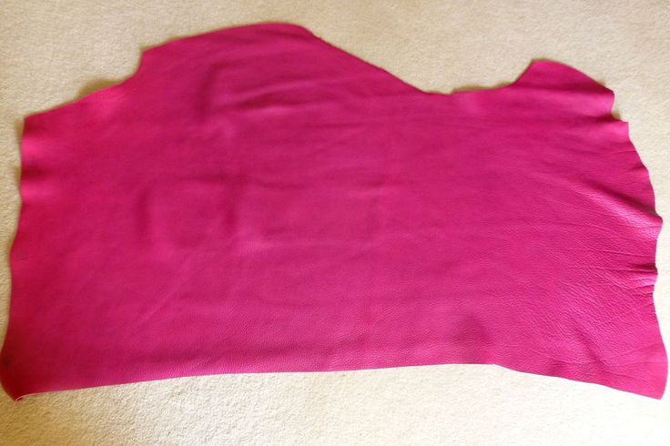 6.0 SqFt LUXURY COW LEATHER HIDE - DEEP PINK in Crafts, Leathercraft | eBay