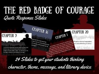 red badge of courage dialectical journal This product features 24 narrative journal prompts for each of the chapters of the red badge of courage easily useful as entries in an on-going journal, bell-ringer tasks, or tickets-out-the-door, this series of landscape pdfs fill a projection screen with attractive backgrounds and easy-to-read fo.