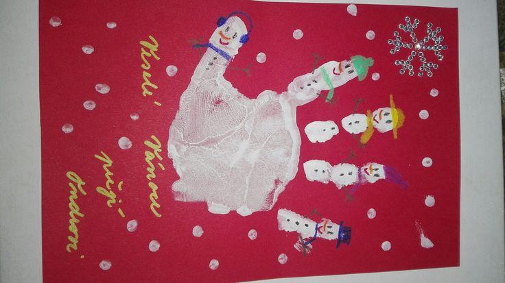 Christmas card, Vánoční přání... práce s dcerkou