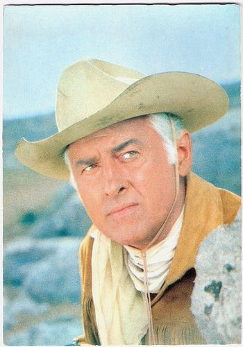 Stewart Granger. German postcard by ISV, no. C 3. Photo: Constantin. Publicity still for Unter Geiern/Among Vultures (Alfred Vohrer, 1964) with Stewart Granger as Old Surehand.