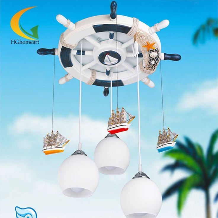 194.60$  Watch here - http://ali5mv.worldwells.pw/go.php?t=32669649047 - Mediterranean baby room Led chandeliers 110V 220V E27 glass ball light modern chandelier led design children's ceiling lights 194.60$
