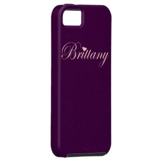 add special text or a photo to personalized Brittany with a Heart iPhone 5 Case. $50.95
