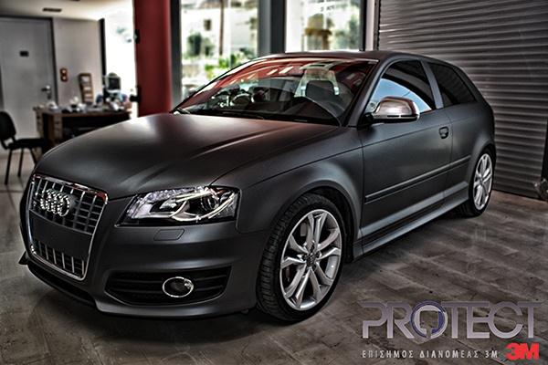 3m Wrap Film Matte Dark Grey Audi S3 3m Matte Dark