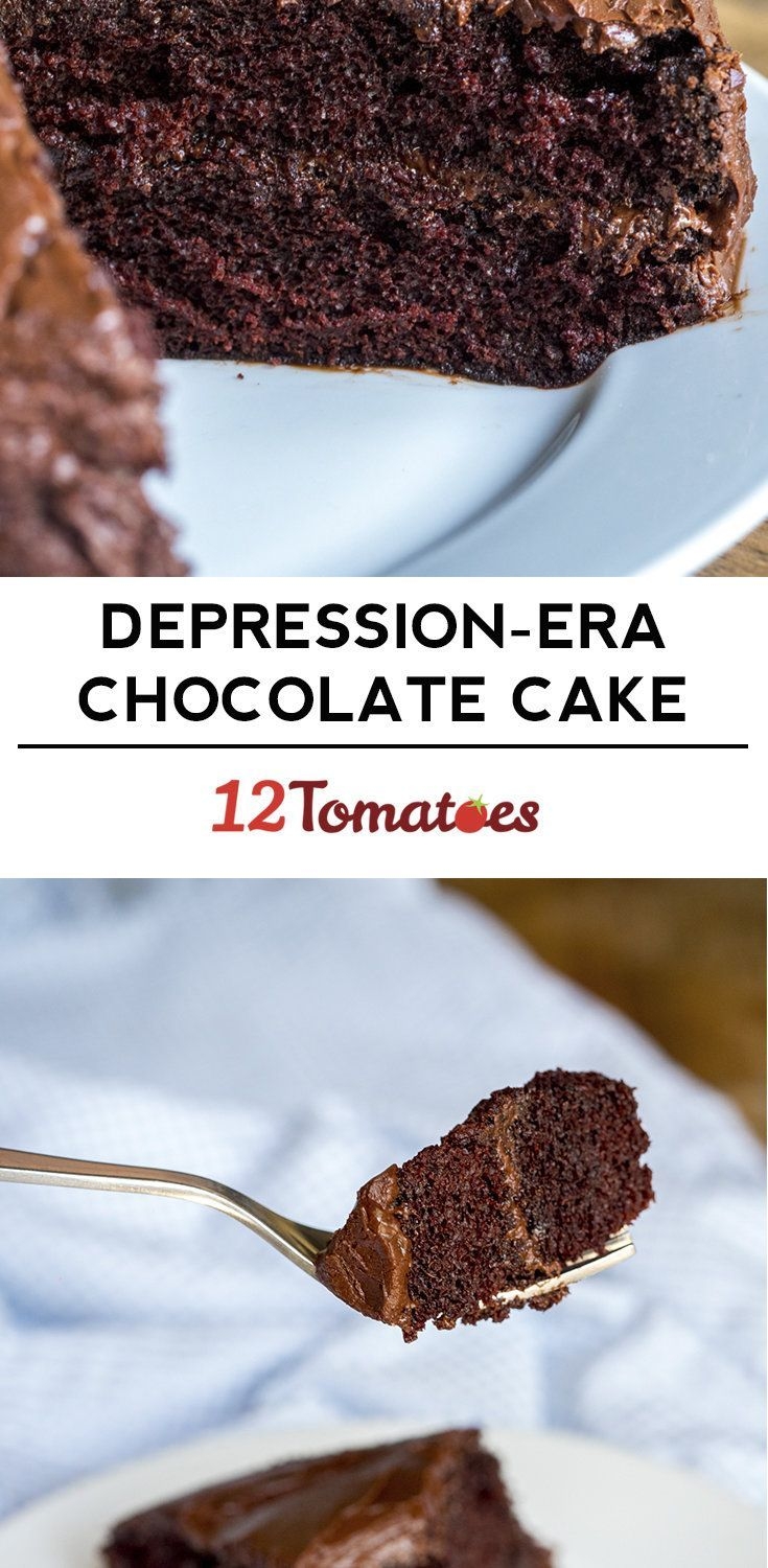 """Depression-Era Chocolate Cake a.k.a. """"Crazy Cake""""- """"Wacky Cake""""  Make this all the time for my chocolate cake.  I do mine right in the pan 9 x 13 dry ingredients mix together well, make wells to put the vanilla, vinegar and oil then pour the water over it and mix in the pan... EASY less dishes and OH SO good"""