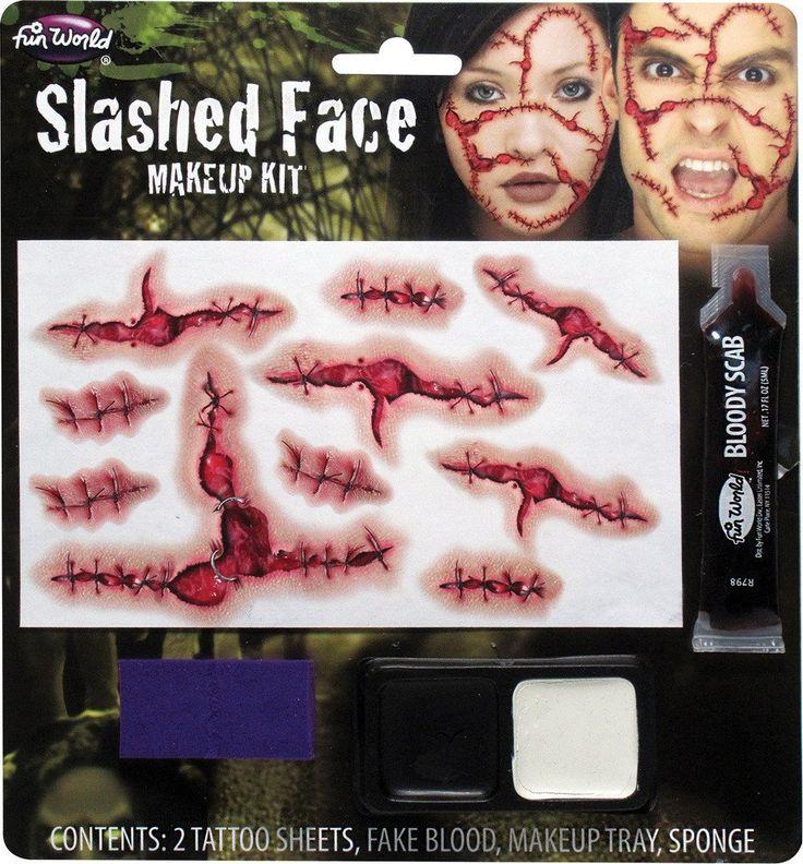 Costume Accessory: Slashed Face Makeup Kit