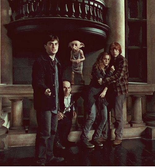 Harry Gripsec Dobby Hermione & Ron (Harry Potter and the Deathly Hallows)