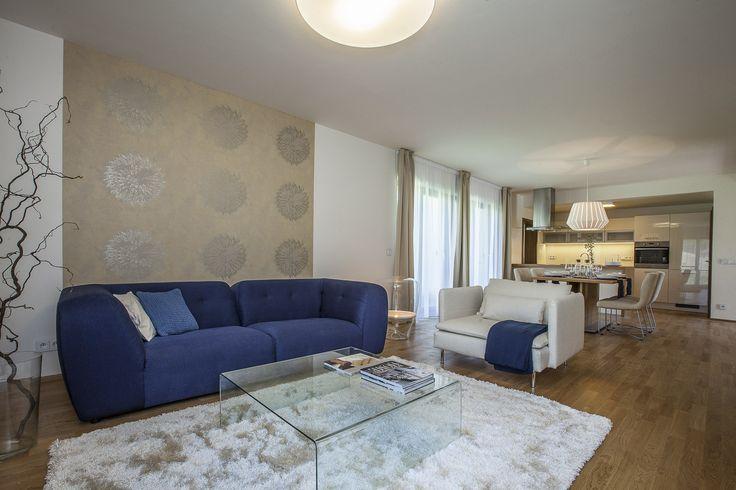 Gallery | Andrea Hylmarová #livingroom #bluesofa #warmcolors #contemporary