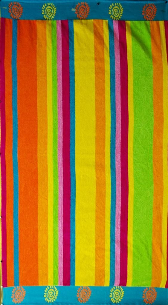 """Pastel Stripe"" 40x70 Egyptian cotton Beach Towel"