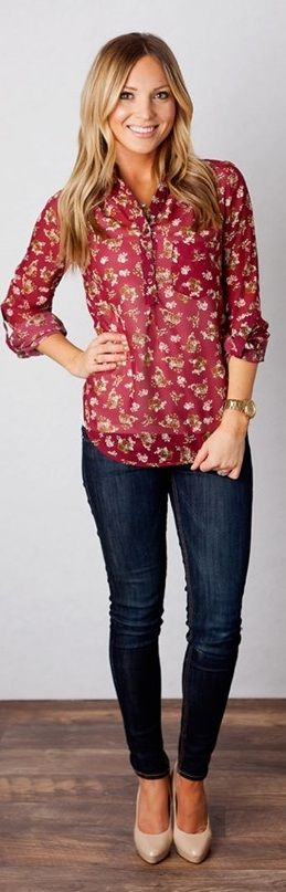 Floral Blouse! {Jane Deals}
