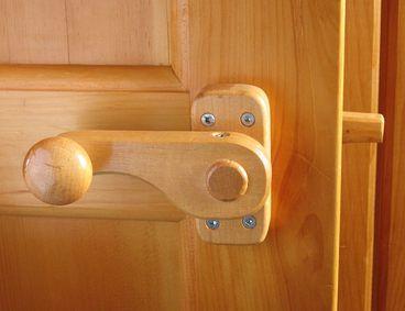 Wooden door knobs & latches