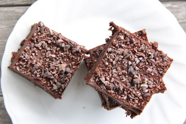 "A delicious healthy caffeine and coffee free ""espresso"" brownie, perfect for afternoon tea or dessert. Raw, vegan, dairy free, gluten free and 100% plant-based."