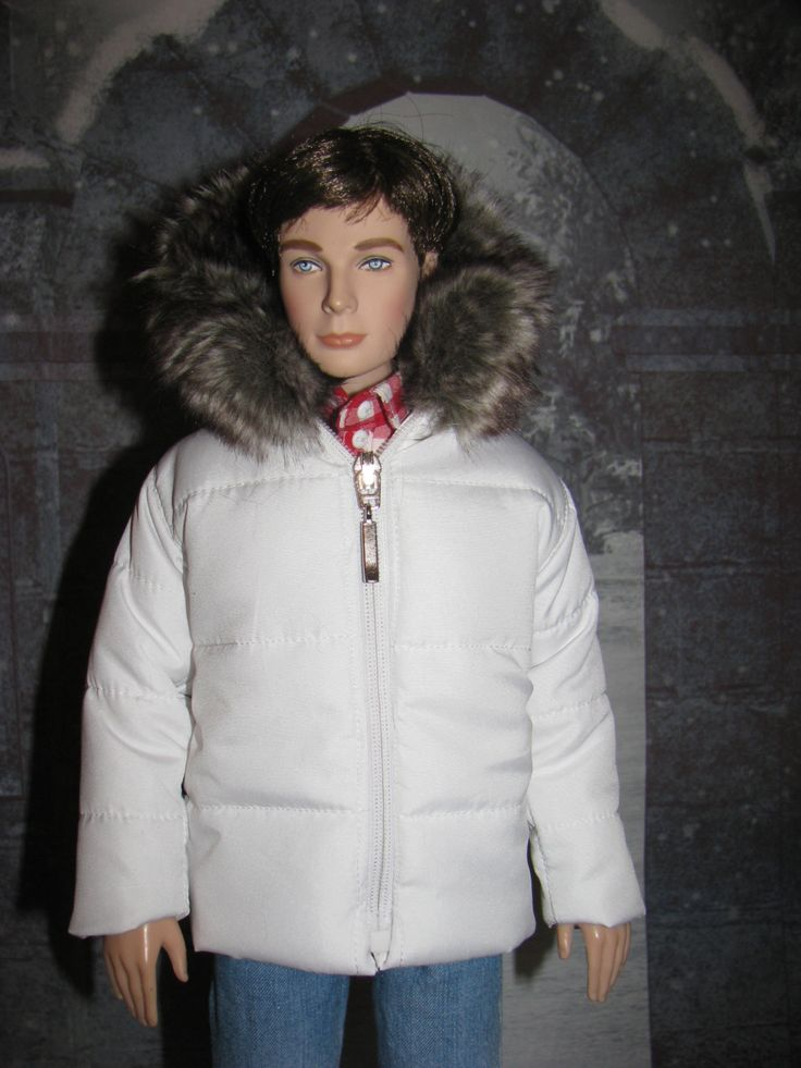 """Down jacket with fur for man Tonner 17"""".24 colors & fabrics and 20 kinds   fur by NatZayShop on Etsy"""
