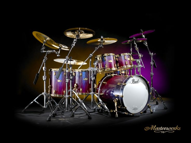 Pearl Drumset for the basement (with Ziljian cymbals and a cat gut marching snare of course)