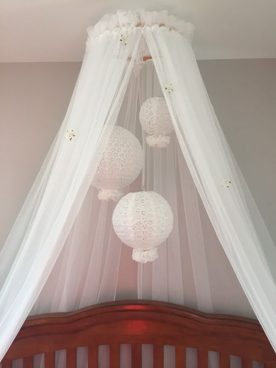 Diy crib canopy and mobile pinteres for Diy canopy over crib