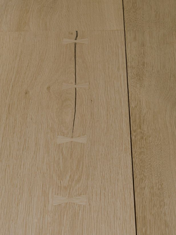 Detail of the Butterfly Joints of Oak on the New Dinesen