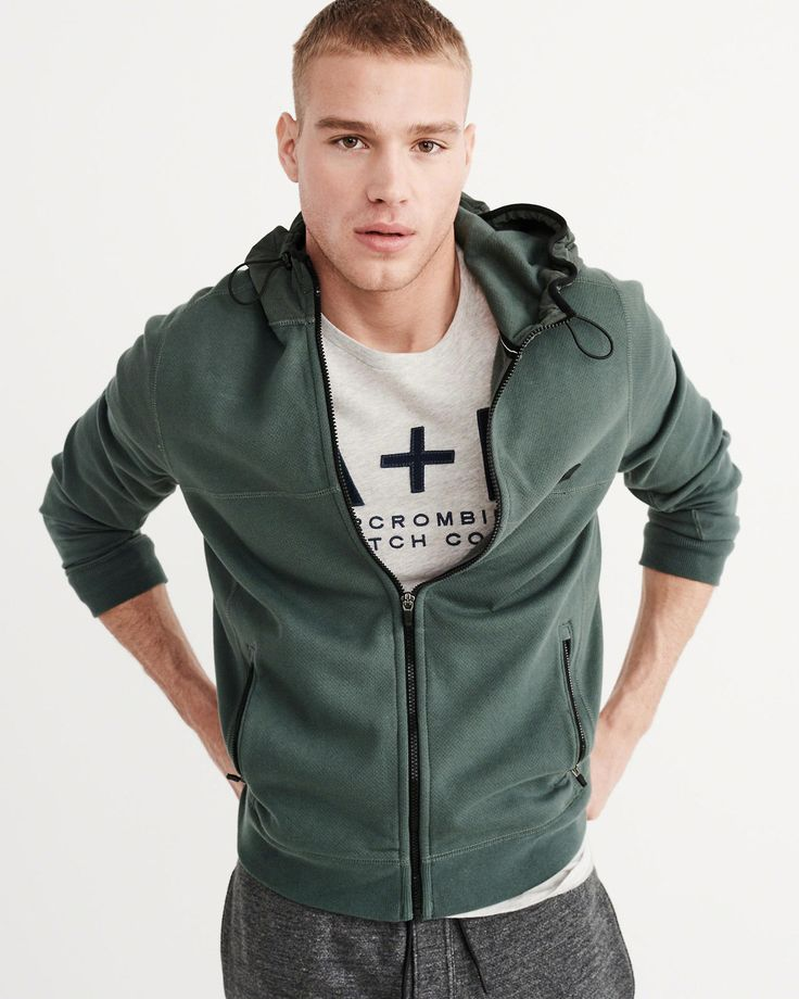 Abercrombie And Fitch Clothing Abercrombie And Fitch Hoodies Abercrombie And Fitch Jackets Abercrombie And Fitch Sweater: Abercrombie & Fitch Sport Full Zip Hoodie