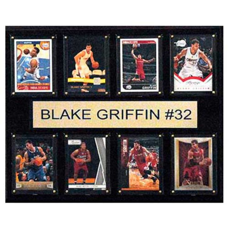 C and I Collectables NBA 15W x 12H in. Blake Griffin Los Angeles Clippers 8 Card Plaque - 1215GRIFFIN8C