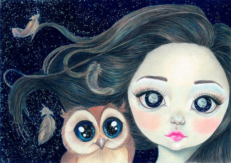 The Girl With The Moon Eyes on Behance