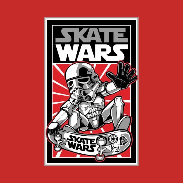 Awesome 'Skate+wars' design on TeePublic!