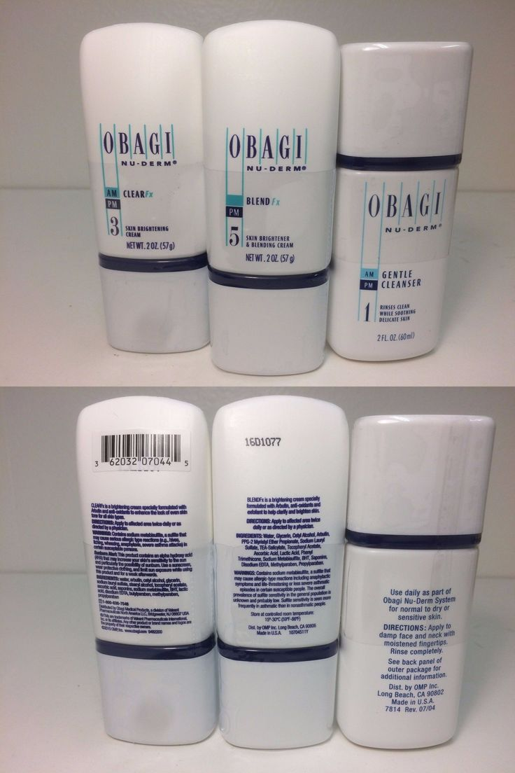 Lightening Cream: Obagi Nu-Derm Fx Kit: 3 Items: Clear Fx, Blend Fx, And Gentle Cleanser -> BUY IT NOW ONLY: $97.95 on eBay!