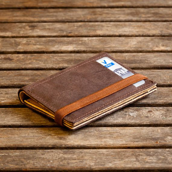 Brown leather wallet Mens wallet Leather wallets von Gazur auf Etsy