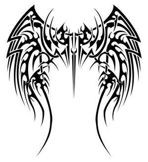 A nice angel wings tattoo