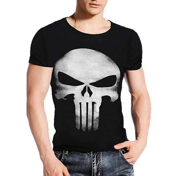 A1 marka clothing yaz kafatası koyu ruhlar punisher baskı 3d t Shirt Erkek T-Shirt % 100% Pamuk T-shirt Adam Gömlek Bluz Camiseta