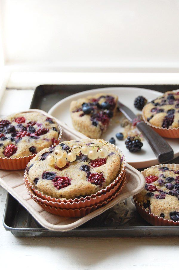 Dairy Free and Gluten Free Blackberry and Blueberry Buckle Cake